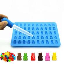 50-Hole Silicone Soap Gummy Candy Moulds Trays Ice Cube Tray Mold Cake Baking Tools Bear Shape Chocolate Candy Mould(China)