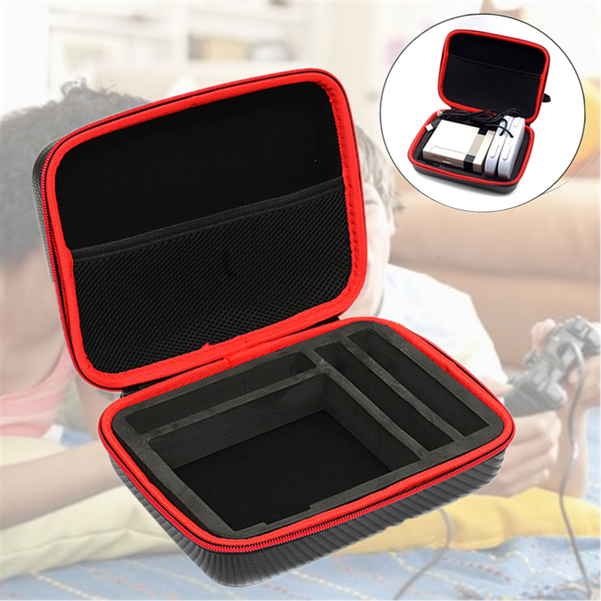 Portable Classical Bag Storage Box Cover Storage Box Carry Case Bag  For Raspberry Pi 3 2 B+ Case