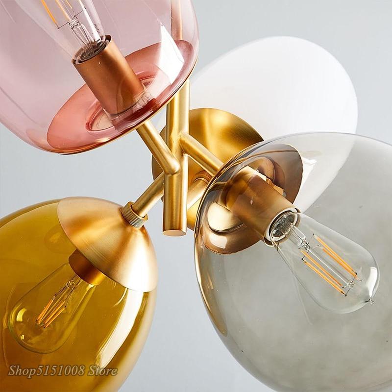Цветной светодиодный подвесной светильник в скандинавском стиле с воздушным шаром, Подвесная лампа для детской комнаты, спальни, столовой, освещение, Декор - 5