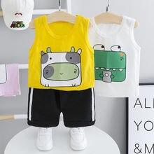 Летний комплект одежды для малышей одежда маленьких мальчиков