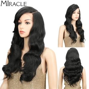 Image 4 - Miracle perruque synthétique à forte densité 180%, sans colle, à forte densité, sans colle, pour femmes noires