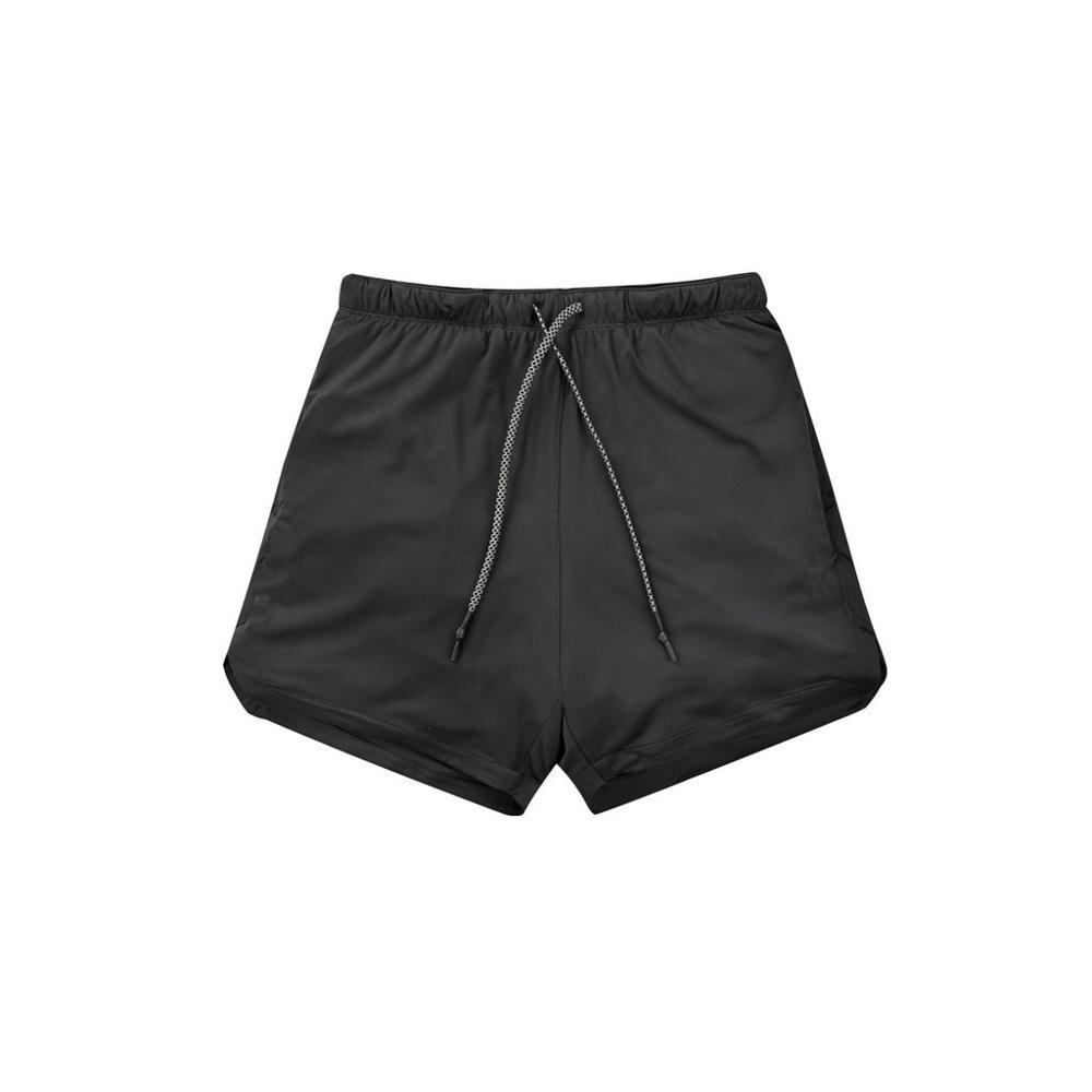 Men's Running Shorts Safety Pockets Leisure Shorts Quick Drying Sports Shorts Inlaid Pockets Hips Hiden Zipper Pockets BY325