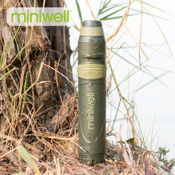 Miniwell L600 survival portable water filter equipment taken on outdoor trip