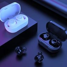 AWI W6 TWS Bluetooth 5.0 אוזניות מגע בקרת אוזניות HD סטריאו דיבורית אלחוטי אוזניות עם כפולה Mic רעש בידוד