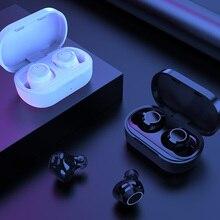 AWI W6 TWS Bluetooth 5.0 słuchawki sterowanie dotykowe słuchawki stereo hd zestaw głośnomówiący słuchawki bezprzewodowe z podwójny mikrofon izolacja akustyczna