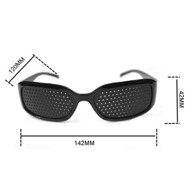 Black Eyesight Improvement Care Exercise Eyewear Glasses Training Cycling Eyewear Pin Small Hole Sunglass Camping Eyeglasses 6