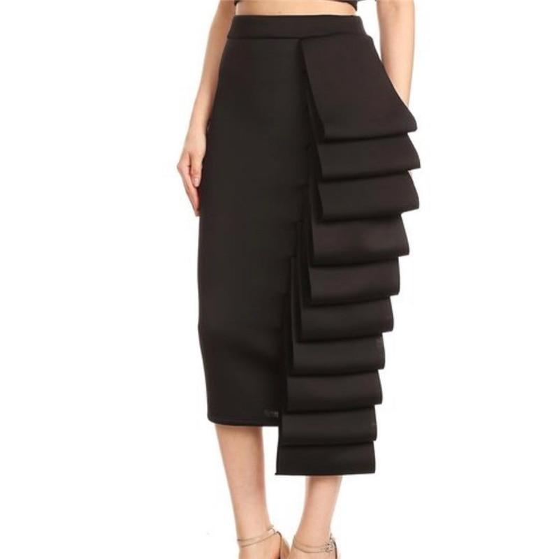2021 frauen Bleistift Rock Hohe Taille Schlank Midi Solide Modest Classy Weibliche Paket Hüfte Jupes Falad Officewear Elegante Femme Mode