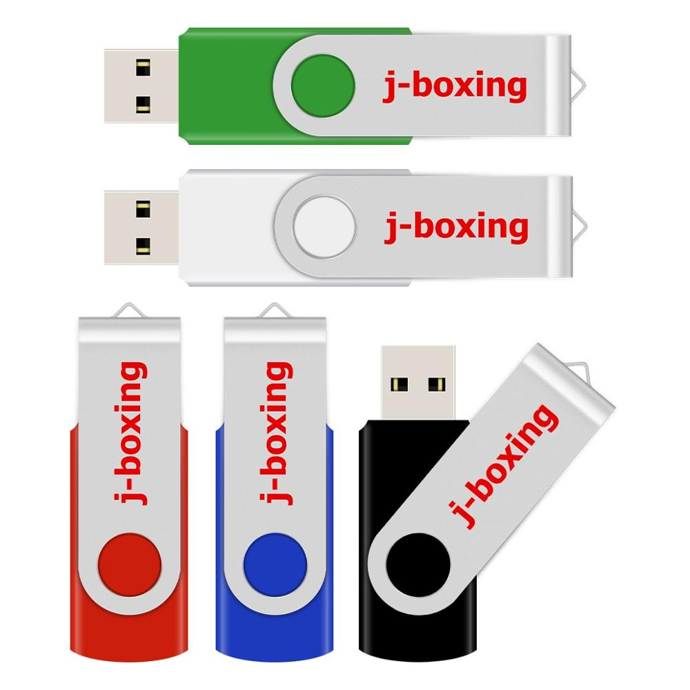 J-boxing Pendrive Metal USB Flash Drive 64GB 32GB 16GB 8GB 4GB Flash Disk USB Memory Stick Cle USB Storage Device For Computer