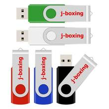 J-boxing Pendrive de Metal USB 64GB 32GB 16GB 8GB 4GB disco Flash USB memoria Stick Cle Dispositivo de almacenamiento USB para ordenador(China)