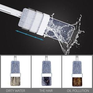 Image 3 - Easy Self Wringing Mopขี้เกียจFlip Flat Mop 360 Spin Wet Moppingแห้งพร้อมReusableสำหรับไม้ชั้นและห้องครัว