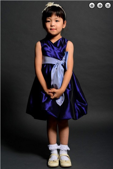 Free Shipping Flower Girl Dresses For Weddings 2016 Royal Blue Wedding Gowns Communion Kids Christmas Pageant Dresses For Girls