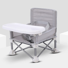Dining-Chair Travel Foldable Children Beach-Camping with Tray Adjustable-Strap Lawn Aluminum-Alloy