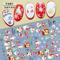 1 шт. Рождественский задний клей для нейл-арта наклейки украшения для ногтей Рождественская елка Санта-Снежинка Дизайн F687