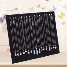 Black Velvet 17 Hook Necklace Jewelry Tray Display Organizer (17 Hook Necklace)