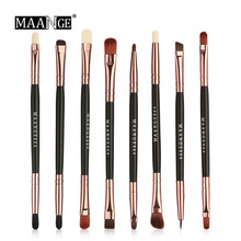 High Quality 8Pcs/lot Double Head Blending Concealer Eyebrow Makeup Brushes Set Cosmetic Tools Eye Shadow Blusher Make up Brush
