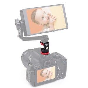 Image 4 - Andoer HS 01 コールドシューマウントアダプタブラケットホルダーアルミ合金 1/4 インチネジ led ライトビデオモニターカメラ