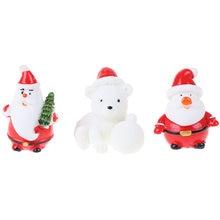 Садовая миниатюрная Рождественская елка Санта Клаус Снеговики