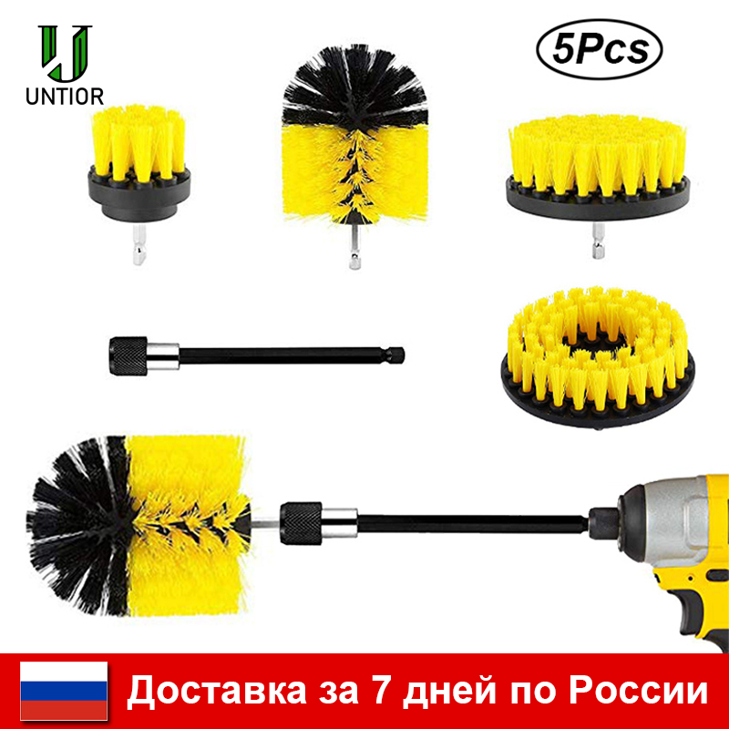 UNTIOR Drill Brush Attachment Set Power Scrubber Brush Bathroom Cleaning Kit with Extender Multipurpose Clean for Kitchen Grout(China)