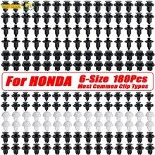 180PC Push Pin Nieten Auto Tür Trim Panel Clips Stoßstange Grille Schlamm Klappen Verschluss Retainer Kit Für Honda Civic accord CR V Schraube