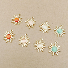 10pcs 18x21mm rhinestone sun charms for jewelry making earring pendant bracelet and necklace charm