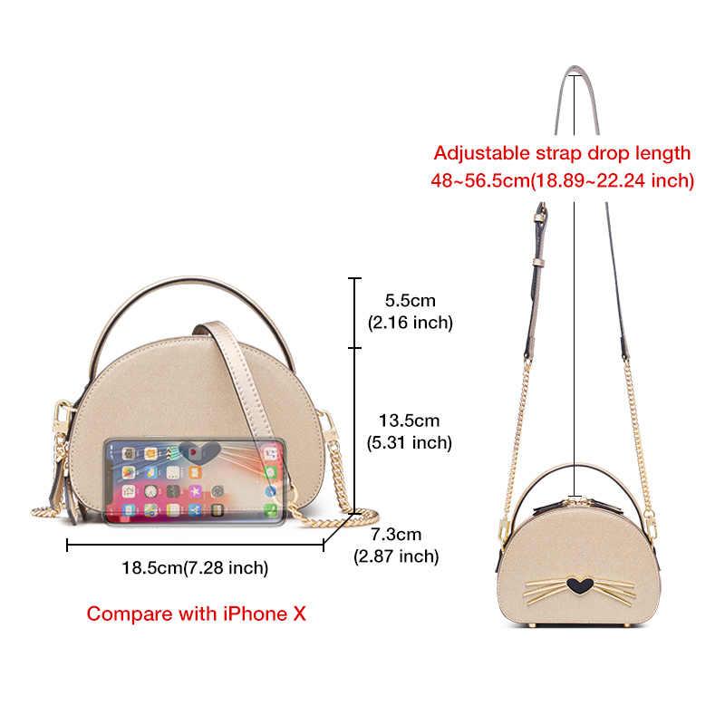 Foxer 2020 chique design mousenose nose padrão dos desenhos animados saco do mensageiro da menina dia dos namorados presente senhora bolsa de couro crossbody bolsa feminina