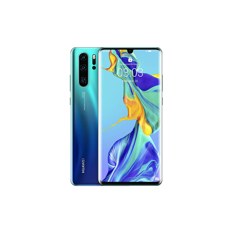 Huawei P30 Pro, Color Blue Aurora, Dual SIM, 12 8GB Memoria Interna, 8GB RAM, Screen 6.47