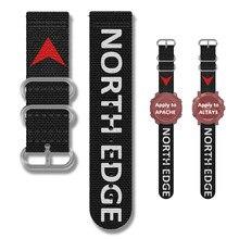 Faixa de borda norte para faixa apache altay gavia 24mm náilon macio respirável substituição cinta esporte loop para north edge marca