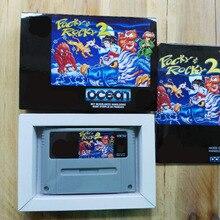 16Bit Games ** Pocky & Rocky 2 ( French PAL Version!! Box+Manual+Cartridge!! )