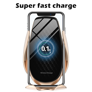 Image 2 - 15 W 10W Super Fast Wireless Charger Station เซ็นเซอร์อินฟราเรดอัตโนมัติหนีบรถชาร์จสำหรับ IPhone samsung