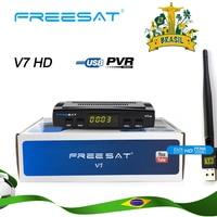 Freesat V7 HD DVB S2 Full HD 1080P Satellite TV Receiver+USB WIFI Anttena Spain Brazil TV Tuner Support CCCAM NEWCAM set top box