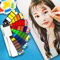 Jogos portáteis da aguarela 18/25/33/42 cores pintura dobrável conjunto ao ar livre artista crianças l9