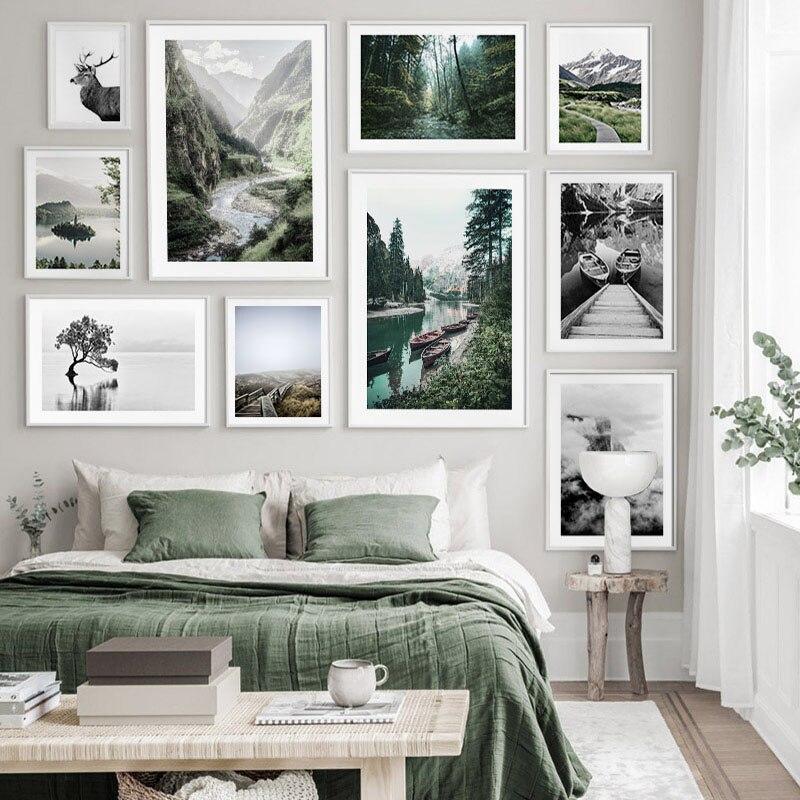 Пейзаж, картина для дома, Декор, скандинавские минималистичные плакаты и принты, настенное искусство, Природный Горный пейзаж, Картина на хо...