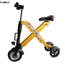 цена на Daibot 3 Wheel Electric Scooter For Adults Three Wheel Electric Bicycles 10 Inch 350W 36V Folding Portable Mini Electric Bike