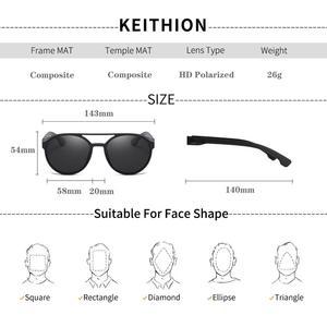 Image 3 - KEITHION BRAND Steampunk Polarized Sunglasses Women Men Retro Goggles Round Flip Up Glasses steam punk Vintage Fashion Eyewear
