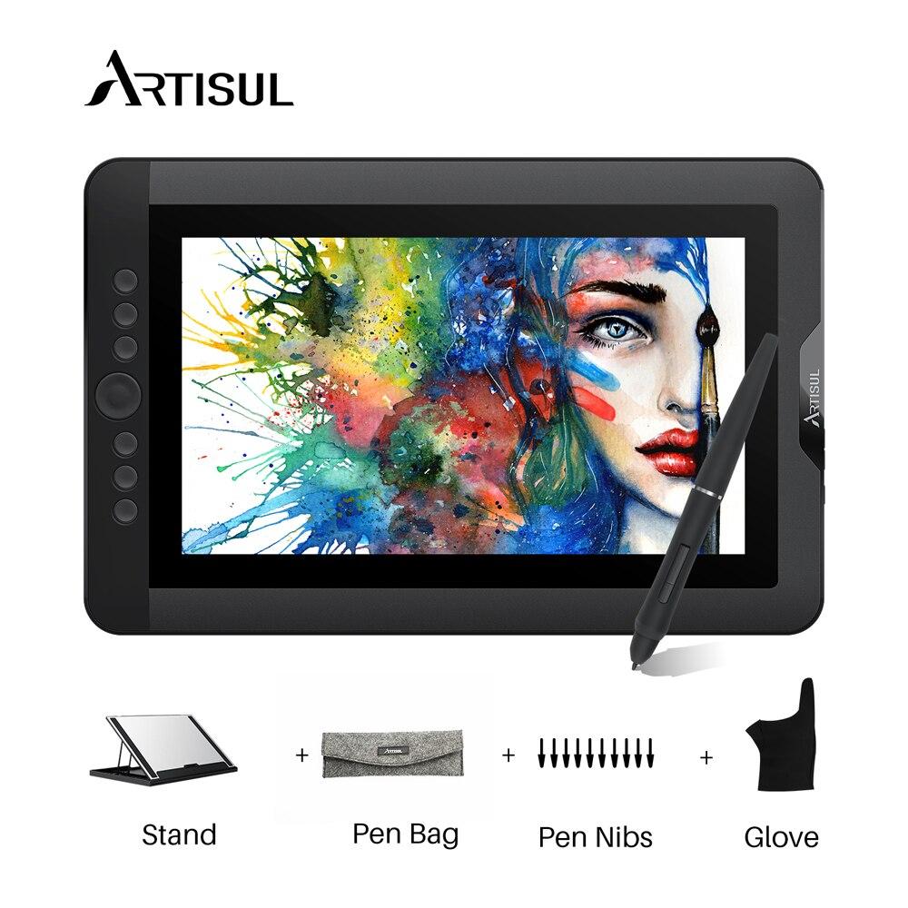 Artisul D13S graphique dessin tablette moniteur 8192 niveaux 13.3 pouces IPS numérique graphique Art tablette avec des touches Express et un cadran