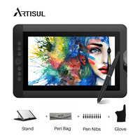Monitor de tableta de dibujo gráfico artiul D13S 8192 niveles tableta de arte gráfico Digital IPS de 13,3 pulgadas con teclas exprés y una dial