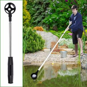Golf Ball Picker With Automatic Locking Spoon Cup Golf Ball Picker Stainless Steel Retractable Ball Retriever Sucker Tool