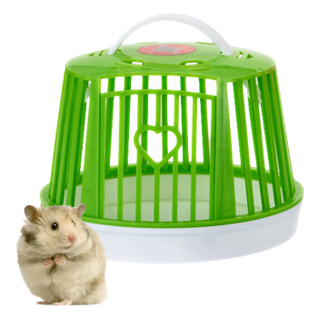 Large Capacity Mini Cute Hamster Cage Single Layer Portable Hamster Habitat Pet Cage For Small Animals Pet Carry Supplies