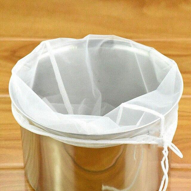 Bolsa de fermentación de cerveza, bolsa de filtro de fermentación casera con cadena, Malt Mash Bag, bolsa de nailon de malla fina para alimentos, bolsa de filtro para nuez, jugo de leche #15