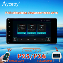 PX6 Autoradio 2 Din Android 10 Multimedia Dvd Speler Autoradio Voor Mitsubishi Outlander Lancer Asx 2012 Stereo Navigatie gps
