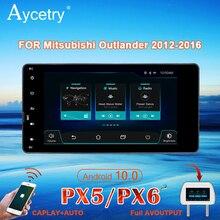 Rádio do carro px6 2 din android 10 multimídia dvd player autoradio para mitsubishi outlander lancer asx 2012 navegação estéreo gps