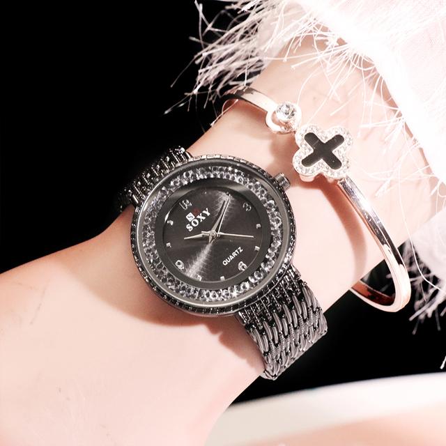 SOXY Top Brand Luxury Ladies Watch Stainless Steel – Relogio Feminino
