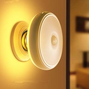 Image 2 - Star Rain Motion Sensor light 360 Degree Rotating Rechargeable Magnetic LED Night Light Wall lamp for Stair Kitchen toilet light