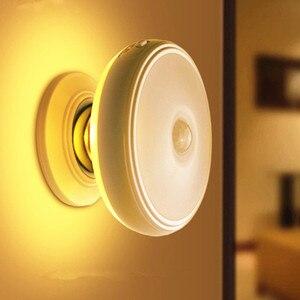 Image 2 - Ster Regen Motion Sensor Licht 360 Graden Roterende Oplaadbare Magnetische Led Night Light Wall Lamp Voor Trap Keuken Wc Licht