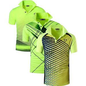 Image 2 - Jeansian camisetas deportivas para hombre, POLOS, POLOS de Golf, tenis, bádminton, Dry Fit, de manga corta LSL195 PackE, 3 paquetes