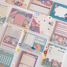 Minkys kawaii 50 folhas bloco de notas papel nota a fazer lista de verificação diário planejador bloco de notas paperlaria escola coreana papelaria