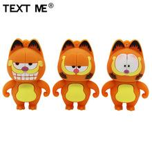 TEXT ME beautiful 64GB Mini cute Garfield model usb flash drive usb 2 0 4GB 8GB 16GB 32GB pendrive gift cheap Silicone Garfield pendrive Creative Animal Mar-13