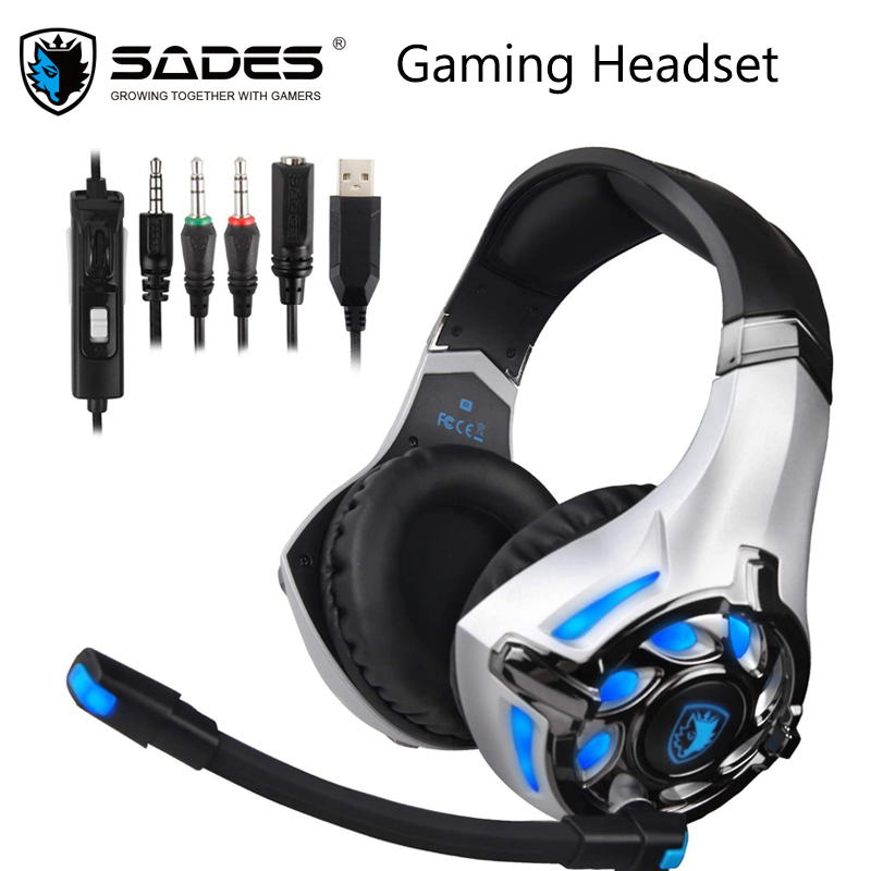 Sades Sa822t Gaming Headset Gamer Earphones Over Ear Gaming Headphones For Ps4 Xbox Pc Computer Mobile Phone Headphone Headset Aliexpress