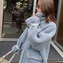 Зимние новые женские однотонные шерстяные теплые пальто с длинным