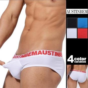Cotton Men Underwear Classic Brief For Man Boy Pockect трусы мужские 4 colors Free Shipping